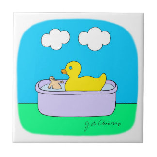 RUBBER DUCKY SMALL SQUARE TILE