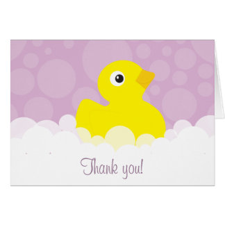 Rubber Ducky Thank You Note - Lilac Card