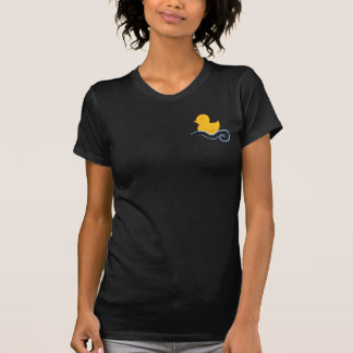 rubber ducky with waves tee shirt
