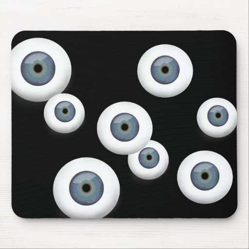 Rubber Eyeball Mouse Pad