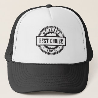 "Rubber stamp ""best choice"" in vector format trucker hat"