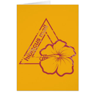 Rubber stamp hibiscus mail greeting card