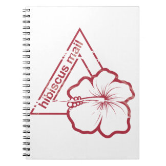 Rubber stamp hibiscus mail note book