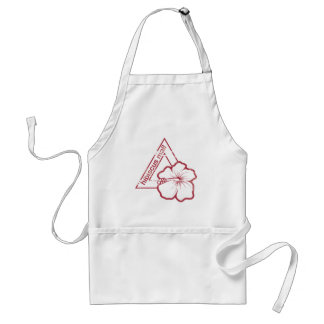 Rubber stamp hibiscus mail standard apron