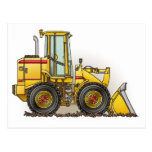 Rubber Tire Loader Construction Equipment Postcards
