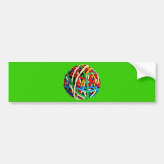 RubberbandBall RUBBERBAND BALL ELASTICS RANDOM COL Bumper Stickers