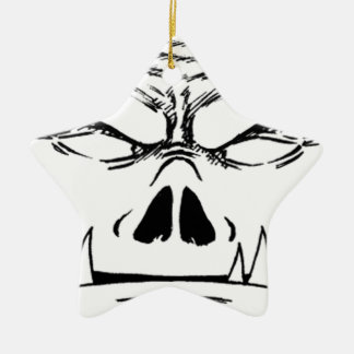 Rubbernorc Face Christmas Ornament