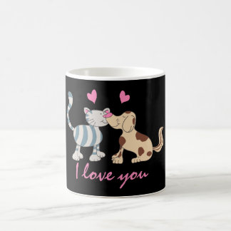 Rubbing noses coffee mug