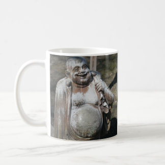 Rubbing the Laughing Buddha's Belly for Luck Mugs