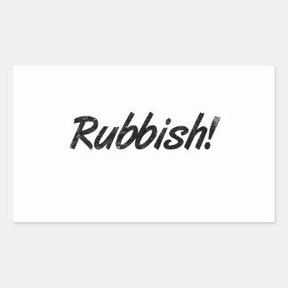 Rubbish! Rectangular Sticker