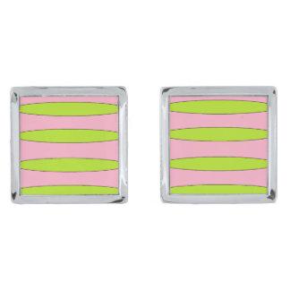 Rubble cufflinks silver finish cuff links