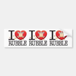 Rubble Love Man Bumper Sticker