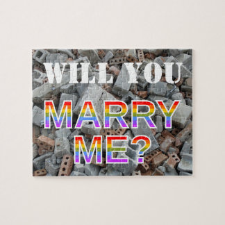 """Rubble """"WILL YOU MARRY ME?"""" Gay Marriage Proposal Jigsaw Puzzle"""