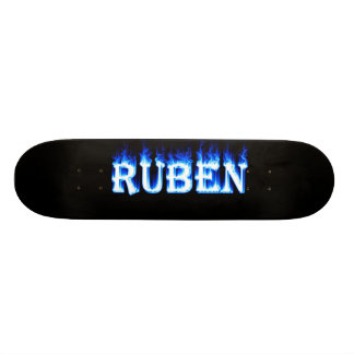 ruben ghost flame skateboard graphic design by man