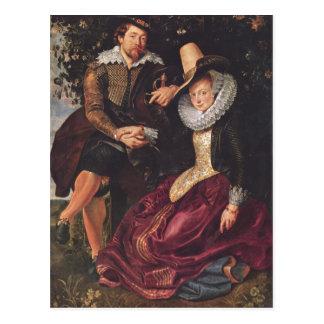 Rubens, Peter Paul Selbstportr?t des Malers mit se Postcard
