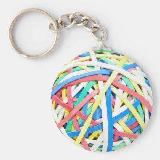 Ruberbands Ball Keychain