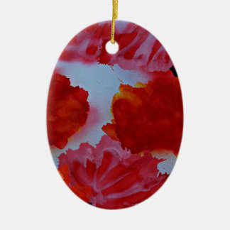 Rubeum Tulipa abstracta Christmas Ornament