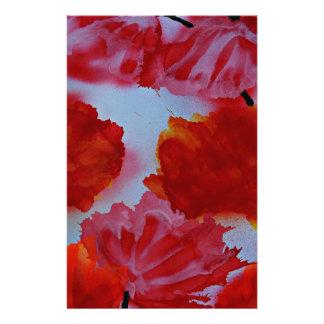 Rubeum Tulipa abstracta Stationery
