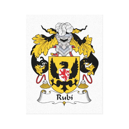 Rubi Family Crest Stretched Canvas Prints