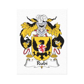 Rubi Family Crest Canvas Print