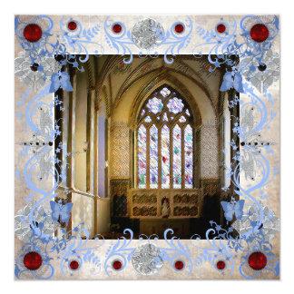 Rubies Art Deco Wedding Invitation Card