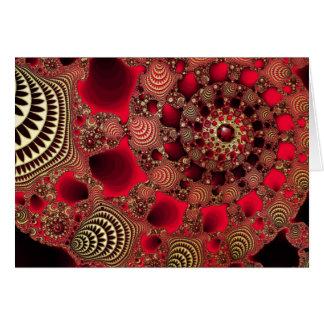 Rubies & Gold Christmas Card