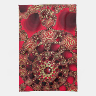 Rubies & Gold Kitchen Towel