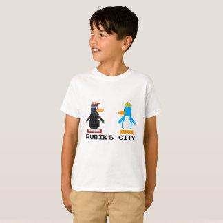 Rubik's City and MegaPlex 8-Bit T-Shirt Kids