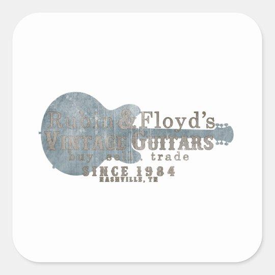 Rubin & Floyd's vintage guitar shop Square Sticker