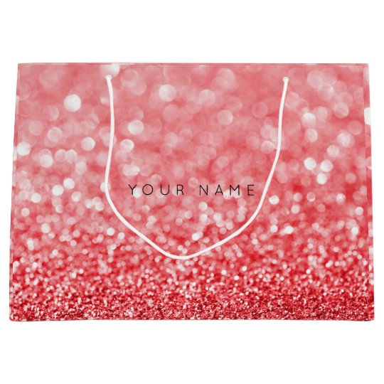 Rubin Red Wine White Glitter Favor Gift Bag