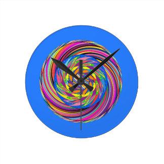 Rubins Spiral Design Round Clock