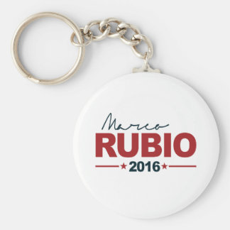 RUBIO 2016 CAMPAIGN SIGN -.png Basic Round Button Key Ring