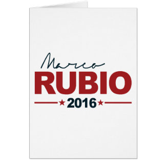 RUBIO 2016 CAMPAIGN SIGN -.png Greeting Card