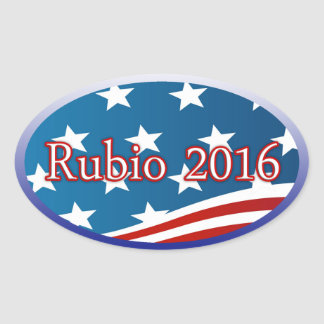 RUBIO 2016 - ELECT MARCO FOR PRESIDENT OVAL STICKER