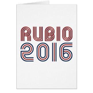 RUBIO 2016 LINE RETRO -.png Greeting Cards