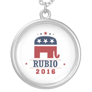 RUBIO 2016 ROCKWELL -.png Silver Plated Necklace