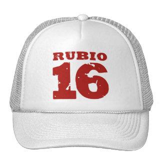 RUBIO 2016 UNIFORM DISTRESSED -.png Trucker Hat