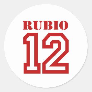 RUBIO IN '12 ROUND STICKERS