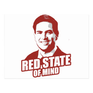 RUBIO RED STATE OF MIND -.png Postcard