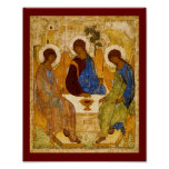 Rublev Trinity at the Table Poster