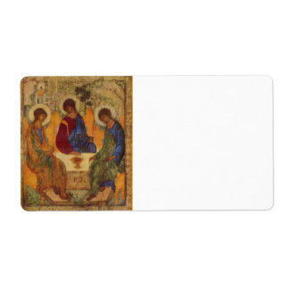 Rublev Trinity at the Table Shipping Label