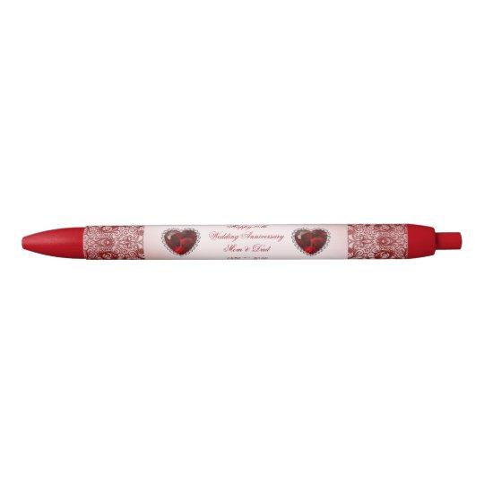 Ruby 40th Wedding Anniversary Black Ink Pen