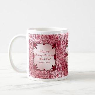 40th Wedding Anniversary Coffee Mug