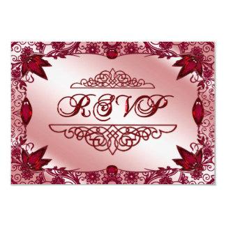 Ruby 40th Wedding Anniversary RSVP Card 9 Cm X 13 Cm Invitation Card