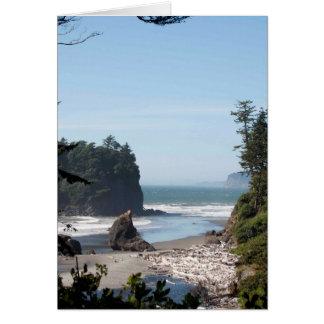 Ruby Beach on the Olympic Peninsula, WA Greeting Card