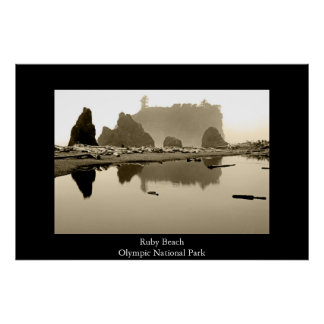 Ruby Beach Poster