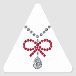 Ruby Bow Necklace Sticker