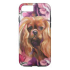 'Ruby' Cavalier dog art phone case