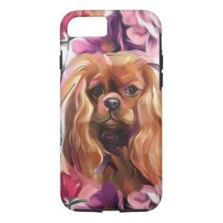 'Ruby' Cavalier dog art phone case