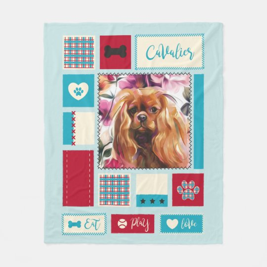 Ruby Cavalier Fleece blanket | medium